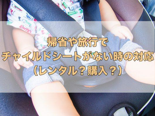 実家への帰省や旅行でチャイルドシートがない場合の対策について【レンタル?購入?】