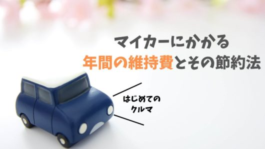 マイカーにかかる年間の維持費と節約法【初めてのクルマ】